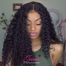 Jarin Brazilian Deep Wave 3 Bundles With Closure Top Human Hair Bundles With Closure Natural Color Brazilian Hair Weave Bundles(China)