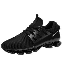 New 2017 Hot Sale Sport Shoes Men Running Shoes Brand Mesh Athletic Trainers Lace Up Low Top Training Sneakers