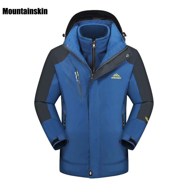 2017 Mens 2 Pieces Winter Inner Fleece Jacket Outdoor Sports Warm Mountainskin Coats Hiking Trekking Skiing Male Jackets VA071<br><br>Aliexpress