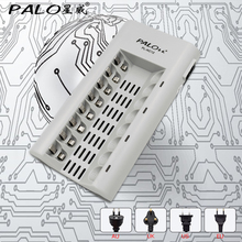PALO Charger C808 8 Slots Charger For AA / AAA Ni-MH / Ni-Cd Batteries Intelligent Rechargeable Battery Charger With EU/ US Plug(China)