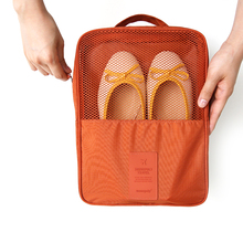 Convenient Shoes Pouch Zipper Design nylon & mesh Luggage Organizer Travel bags Box Stores up to 3 pairs of shoes