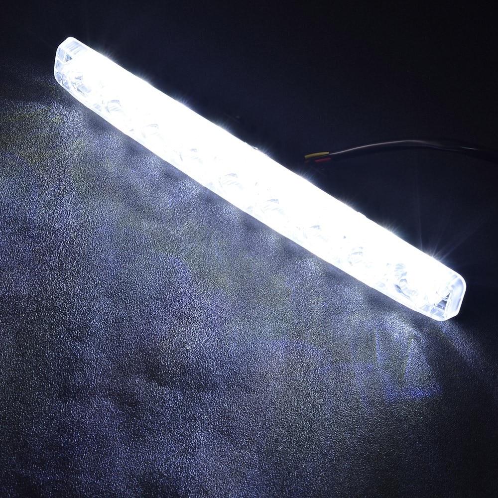 1 Kid Super Bright LED Strip High Power Car Styling Daytime Running Light DRL Daylight Kit Fog Driving Lights White<br>
