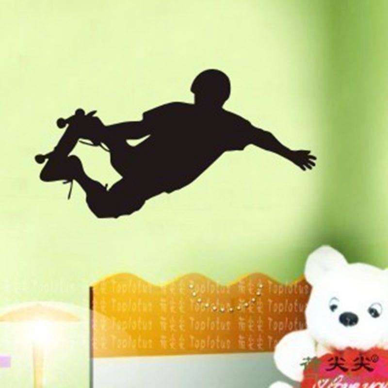 Roller Skating Skate Sticker Sports Decal Kids Room Name Posters Vinyl Wall Decals Sticker