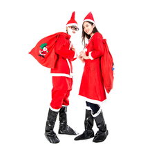 New HuntGold Santa Claus Men Adult Christmas Costume Clothes Suit Cap Pants  Dropshipping Hot Sale