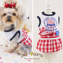 Kawaii Pet Shop Girls and Boys Couple Pet Dog Clothes Dog Dresses Clothes for Dogs Products for Cats Dog Clothes Spring 16DF11