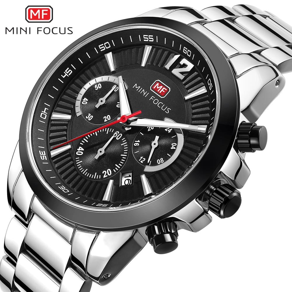 MINI FOCUS Wrist Watch Men Top Brand Luxury Famous Male Clock Quartz Watch Wristwatch Quartz-watch Relogio Masculino MF0087G.01<br>