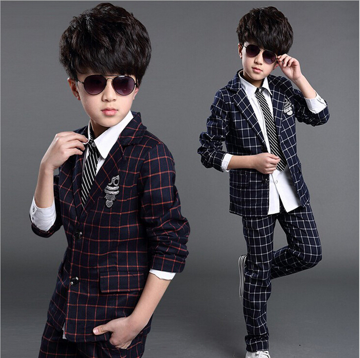 2017 Kids Baby Boys Blazers Clothes Weddings Suits Jackets Pants Set Childrens Formal Wedding Costume Suit for Boy Clothing Q65<br><br>Aliexpress