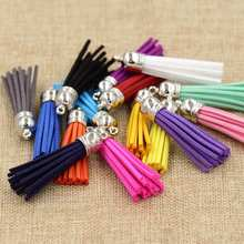 (15pcs/lot) 55mm Length Suede Tassel For Keychain Cellphone Straps Purses Backpacks Jewelry Charms(China)