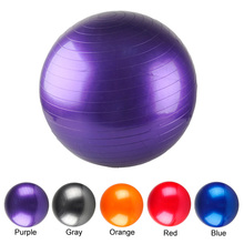 2017 New Yoga Ball Thick Explosion Proof Massage Ball Bouncing Ball Gymnastic Exercise Fitness Yoga Balance Ball 55 CM 5 Colors(China)