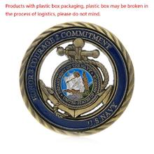 2017 U.S. Navy I Will Obey The Orders Gold Plated Commemorative Challenge Art Coin Jun20_25