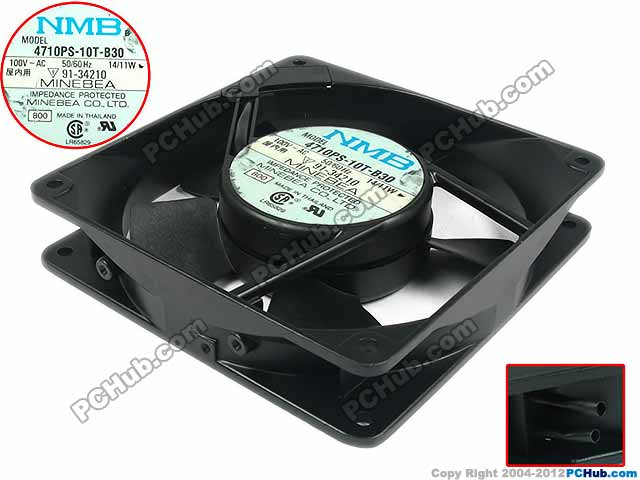 NMB-MAT 4710PS-10T-B30, B00 AV100V 14/11W 120x120x25mm Server Square fan<br>