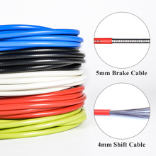 3m Bicycle Brake Cables Shift Cable 4mm/5mm MTB Mountain Road Bike Shifting Cable Line Pipe Brake Wire Line Set Kit(China)