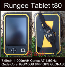 Original Rungee T80 Tablet PC 8Inch 11000mAH Rugged tablet PC Qude Core 1.5GHz 1GB/16GB Dropproof Waterproof Cell phone ip67(China)
