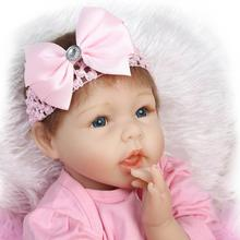 BeBe Reborn 22inch Soft Silicone Reborn Doll 55CM Infant Doll Lifelike Realistic Baby Dolls Toys Brinquedos For Birthday Gift(China)