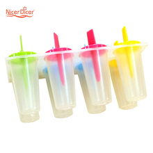 1PC Ice Cream Pop Mold Clear DIY Mould Tray Pan Popsicle Candy Useful Frozen Freezer Lolly Maker Yogurt Stick Ice Cream(China)