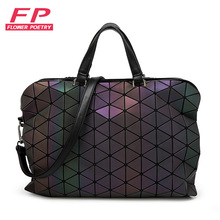 Flower poetry New Women Luminous sac baobao Bag Diamond Tote Geometry Quilted Shoulder Bags Saser Plain Folding Handbags bolso