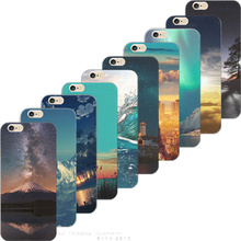 6/6S Painting Brilliant Starry Sky Maple Leaves TPU Cover For Apple iPhone 6 6S Cases Case For Phone6 Phone Shell Best Hot New(China)