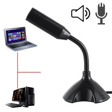Mini USB Microphone Stand Mic With Holder For Portable Studio Speech  Microfono Computer Microphones For PC Laptop