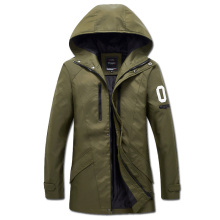 2017 Men Winter Jackets Parkas Jaqueta Masculina Coats Men's Casual Fashion Slim Fit Medium-long Wadded Men Hooded Coats Jacket(China)