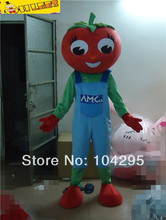 red tomato mascot costume for Halloween Christmas birthday halloween free shipping(China)