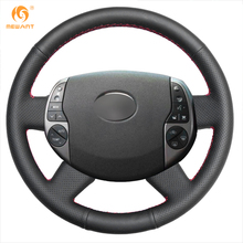 MEWANT Black Artificial Leather Car Steering Wheel Cover for Toyota Prius 2005-2008