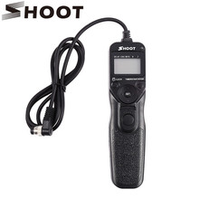 SHOOT MC-30 Intervalometer Timer Remote Cord Shutter Release for Nikon MC-30 D700 D300 D200 D3/D3X For Fuji S3 S5 Camera
