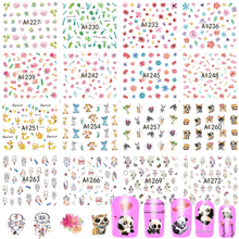 48 Sheets New 2017 Water Transfer Mixed Designs Sets Nail Art Flower DIY Tattoos Beauty Sticker Decals Beauty Tips TRA1225-1272(China)