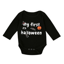 MUQGEW Infant Baby Boys Girls Halloween Pumpkin Long Sleeve Romper Jumpsuit Clothes Long Sleeve Infant Product 2017 Hot Sell(China)