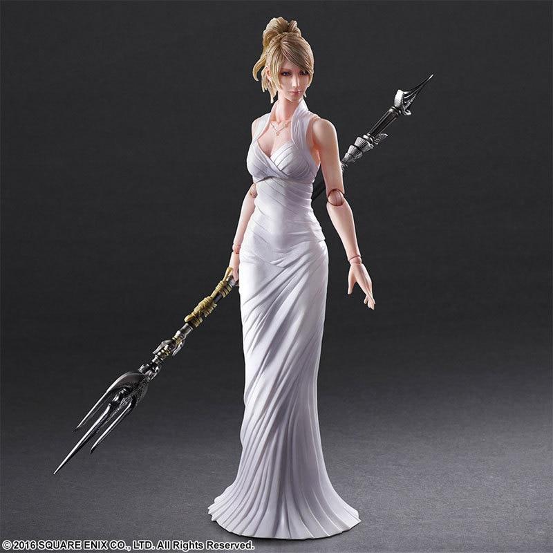 Tobyfancy Play Arts Kai Kingsglaive Final Fantasy 15 Figure PA Lunafrena Nox Fleuret PVC Figure Model Collection  <br>