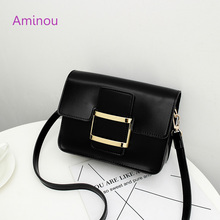 Aminou New Women Shoulder Bags Mini Lock Flap Messenger Bag Ladies Fashion High Quality Pu Leather Handbags Special Discount(China)