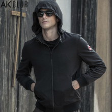 AK CLUB Men Jacket Mission Impossible 5 Tom Cruise Urban Agent Jacket Hooded Stand Collar Water Repellent Windbreaker 1504041(China)