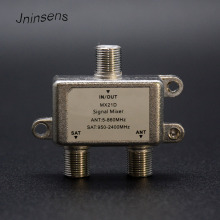 Jninsens Zinc 2 Way Satellite Splitter TV Cable Splitter Satellite Signal Mixer Combiners Coaxial ANT SAT Diplexers VHF UHF(China)