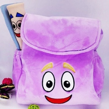 Hot Festivals Party Supplies Love Adventure Dora Explorer Backpack Rescue Bag & Map Party Gift Plush Bag(China)