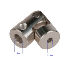 2pcs 4 x 2.3mm Model Car Shaft Coupling Motor Connector Alloy Universal Joint