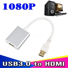 High Speed USB 3.0 to HDMI Converter Graphic Adapter Multi Display Cable HD 1080P for PC Notebook Projector HDTV