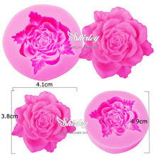 M108 Rose Leaf Flower Shaped Silicone Mold Chocolate Candy Resin Clay Crafts Molds Sugarcraft Fondant Cake Decorating Tools