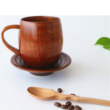 Classic wood coffee cups Creative Natural Wooden tea cup high quality high taste Leisurely healthy Milk Water Drinking cups
