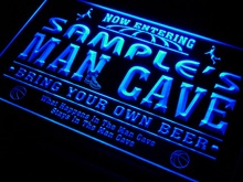 qc-tm Name Personalized Custom Man Cave Basketball Bar Neon Sign with On/Off Switch 7 Colors 4 Sizes