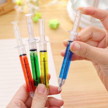 4PCS Creative Novelty Lifelike Syringe Pen Peculiar Shape Cute Stationery Ballpoint Pens Bullet 5mm Children Gift Prizes Ballpen(China)