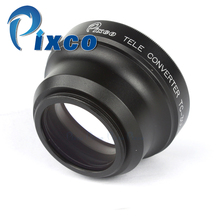 Pixco 30mm 2.0X Magnification Telephoto Tele Converter Lens For Camera Black(China)