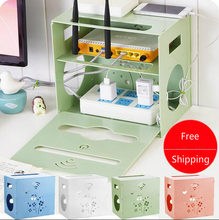 Creative TV Set-top Box Shelf Router Finishing Storage Rack Power Cord Switch Socket Storage Box
