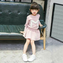 Children's clothing sets 2017 spring casual new fashion brand girls clothes for 2 3 4 5 6 7 8 9 10 years old kid tops and skirt