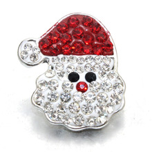 Christmas Santa Claus Snap Button Metal Jewelry For Bracelet Women Pulseras Bracelets One Direction (fit 18mm 20mm Snap) 050508