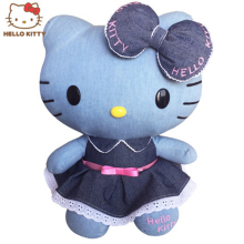 New Arrival Jeans Cloth Hello Kitty Doll High-quality Cartoon Toys for Children Kids Christmas Birthday Gift