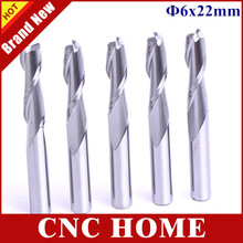5pc 6*22mm 2 Flutes Tungsten Carbide Spiral Engraving Bits Milling Cutter, CNC Wood Router Bit, End Mills, Carving Tools Machine