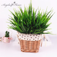 Green leaf plants /lotus leaf/ Green plants fake flowers artificial flowers grass silk flower decoration home decoration Washed(China)