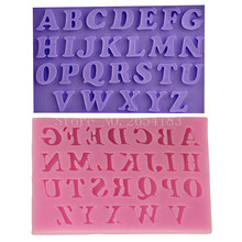 English alphabet Lace Silicone Fondant Soap 3D Cake Mold Cupcake Jelly Candy Chocolate Decoration Baking Tool Moulds FQ1923(China)