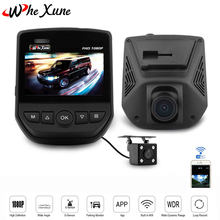 "WHEXUNE Novatek 96658 FHD 1080P Car DVR 2.5"" LCD Screen WIFI Dual Lens Sony IMX323 Car Video Recorder Dash Cam With Rear Camera(China)"