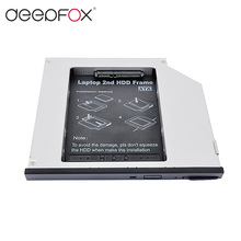 2nd HDD Caddy 9.5mm SATA To SATA Aluminum SSD Drive Case DVD CD-ROM Case For Dell E6400 Laptop Notebook(China)
