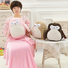 New bedding 3 Colors owl girls bedding car pillow blanket office lunch sleeping pillow Multifunctional cotton quilt blanket Toys